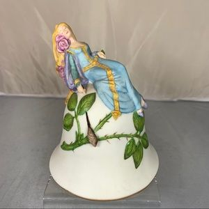Vintage Porcelain Sleeping Beauty Bell Princess